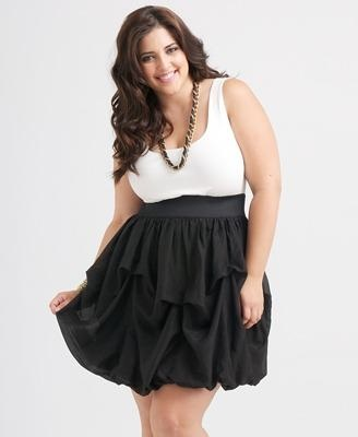 Modelos de Vestidos Para Gorditas blanco y negro
