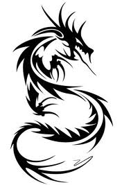 Motif Tato Naga Hitam Putih 27
