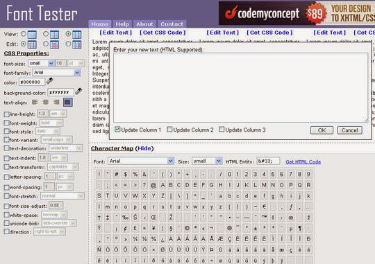 Font Tester