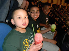 Jymani's first Celtics game with his brothers........