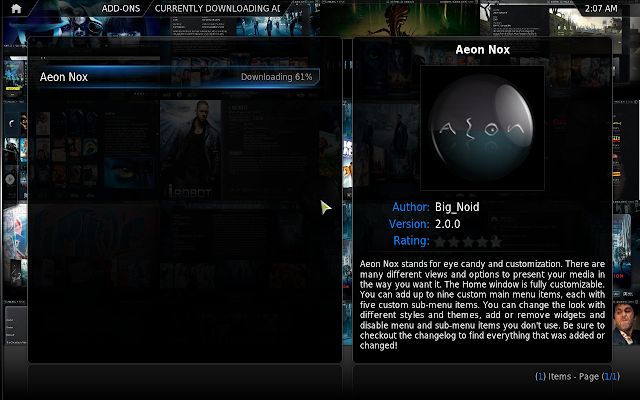 How to Install Aeon Nox 2.0 XBMC 11 Theme