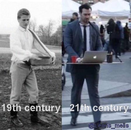 19.gadsimta sējējs un 21.gadsimta darbinieks