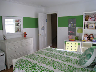 finished green room - other angle - from thediybungalow.com