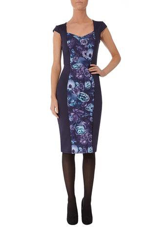 Pencil Dress on Dorothy Perkins   Ink Floral Scuba Pencil Dress   15 00  Was   35 00