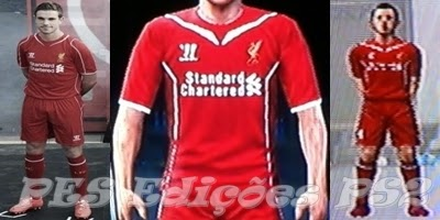 Uniforme Liverpool Temporada 14/15 PES PS2