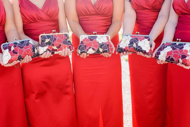 matching bridesmaids purses