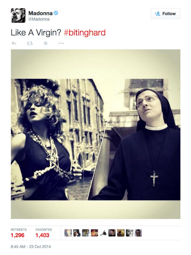Call Me Jorge...  Madonna Ciccone endorsed Sister Cristina... 46b02aa9e
