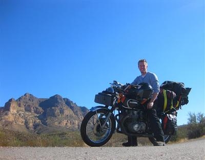 motorcycle ride, phoenix, arizona, mountains, cross country