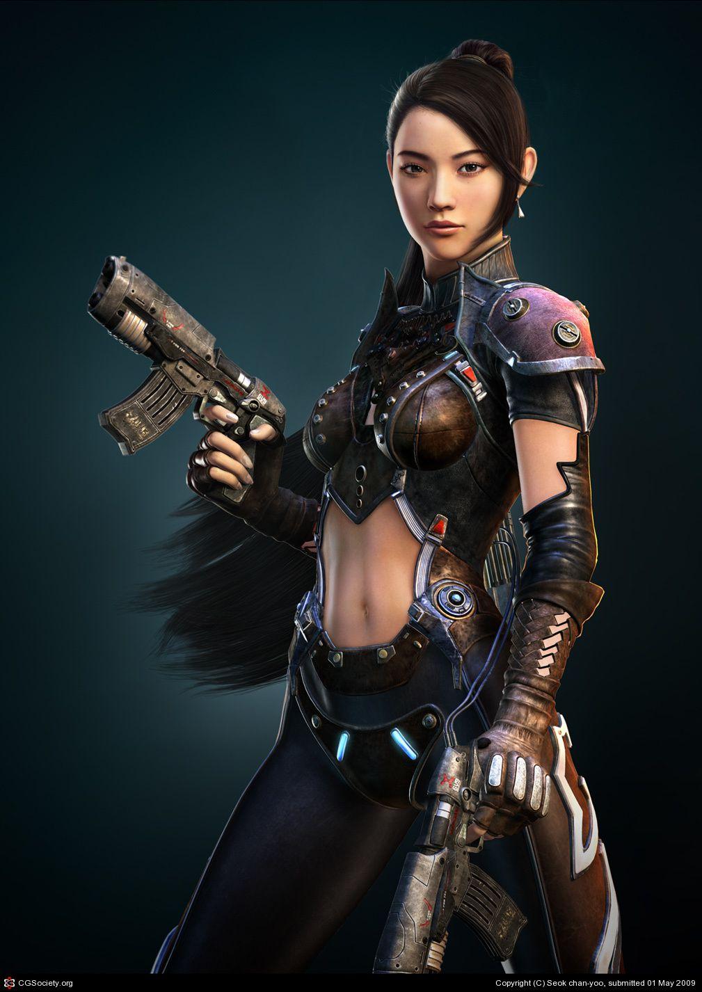 Beautiful 3D Fantasy CG Girls