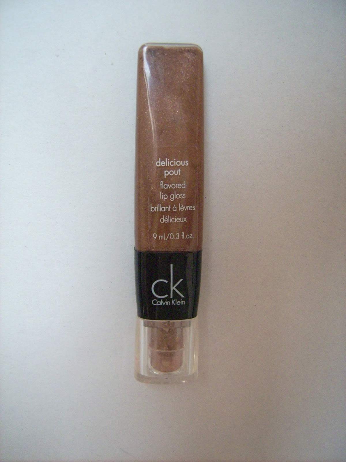 lipgloss delicious pout Calvin Klein dew drop