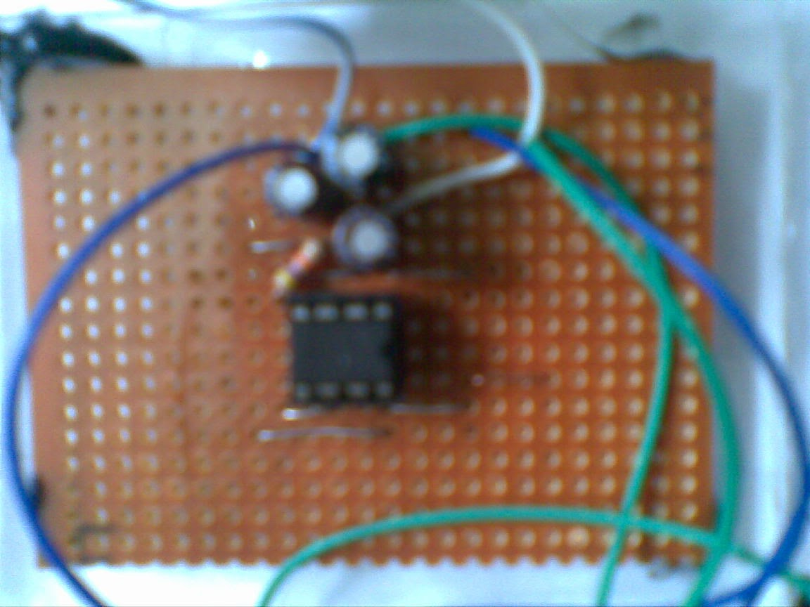 Nishadis Tech Lab Metal Detector Simple Circuit Figure 3 Mounted To The Dot Board Now Basic