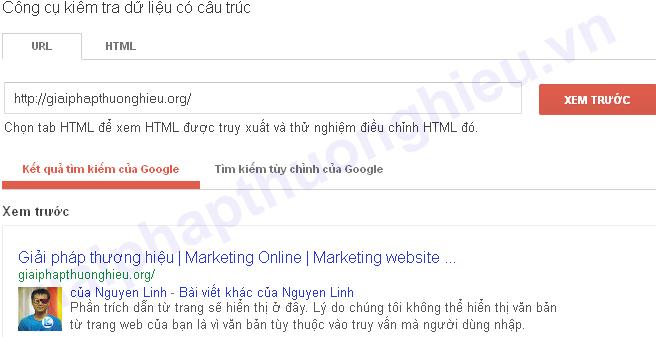Kiểm tra đã xác thực Google Authorship