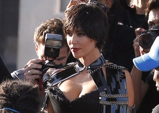 Kim Kardashian with short hair