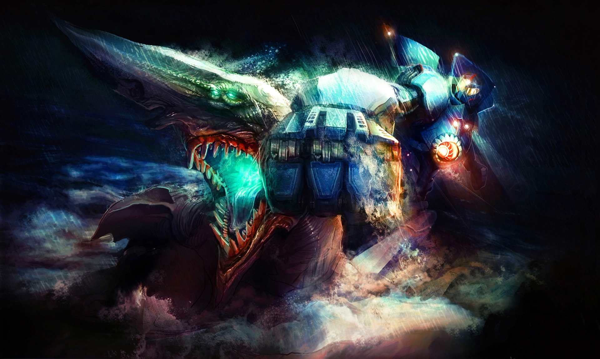 Jaeger Mecha Vs Kaiju Monster Pacific Rim B46 HD Wallpaper