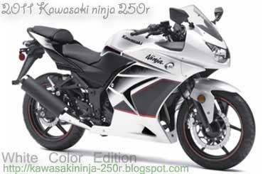 2011 Kawasaki Ninja 250r All New Colors White Green And