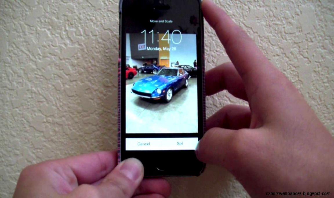 HACKED Apple iPhone 5S Wallpaper Crop Scale Trick  iOS 711