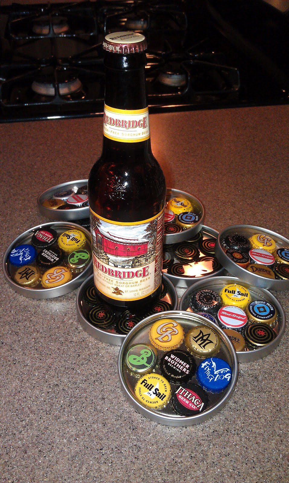 good things challenged bottle cap coasters
