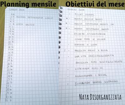 planning mensile