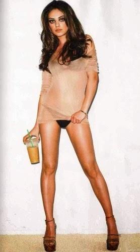 naked legs Mila Kunis nude panties