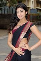 Pranitha, Black saree, desi