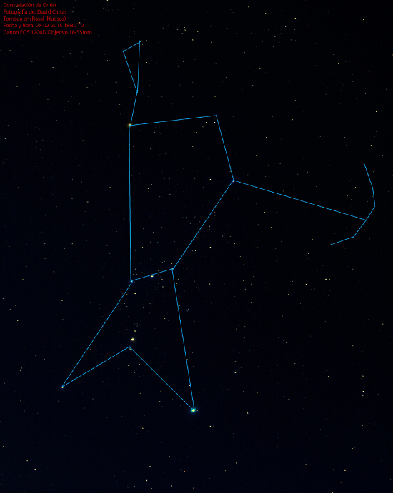 Constelacion de Orion - Mitologia - El cielo de Rasal