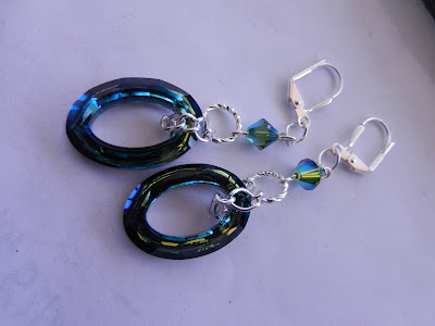 swarvoski blue earrings
