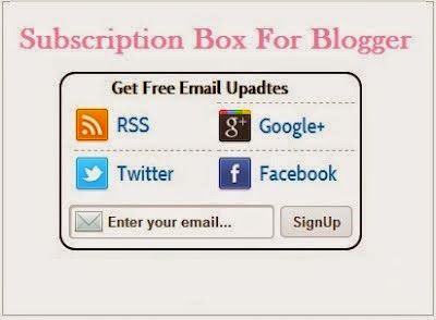 Add Stylish Social Subscribe Box for Blogger : eAskme