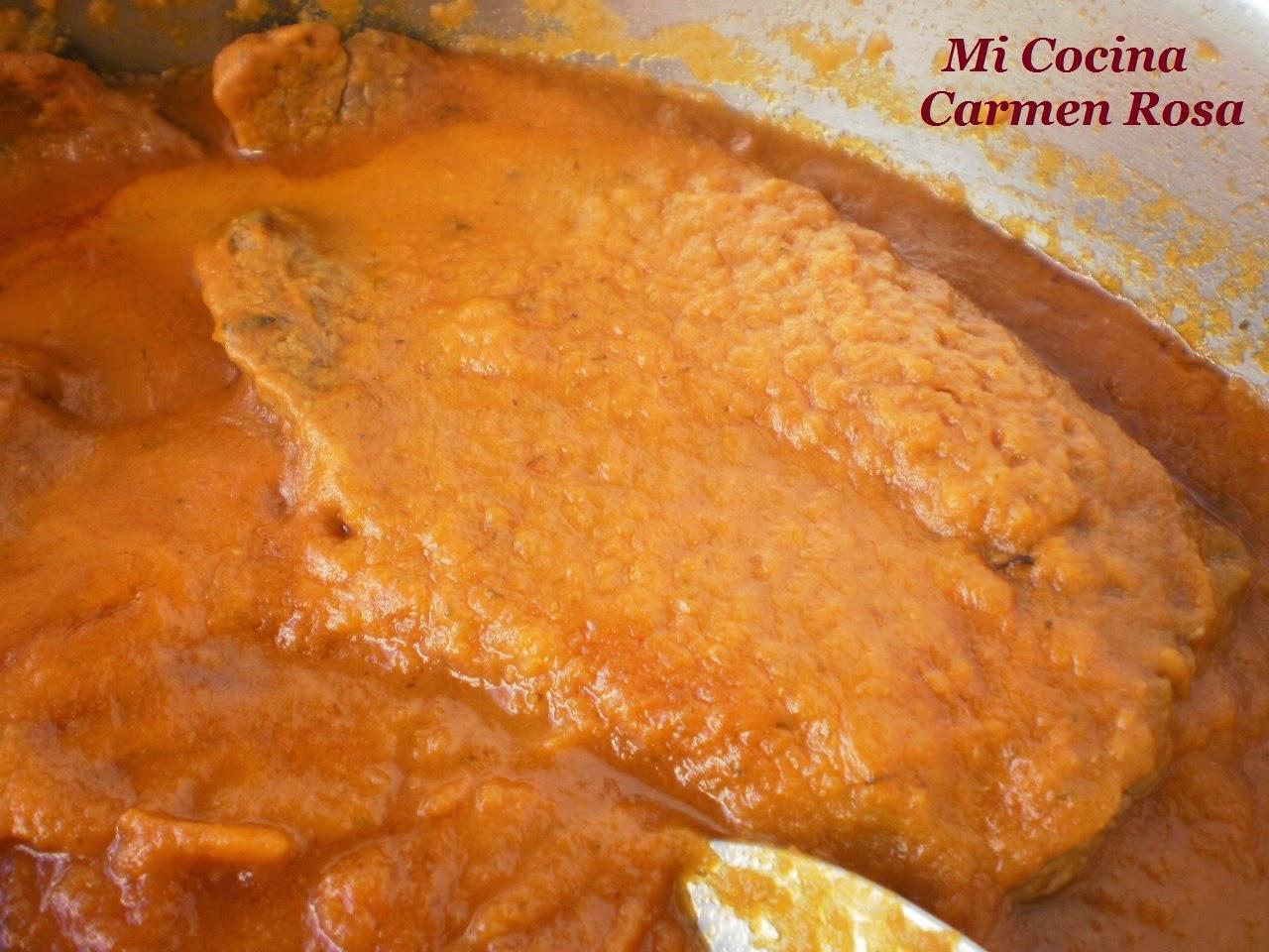 Mi cocina filete de ternera en salsa de zanahoria - Filetes de ternera en salsa de cebolla ...