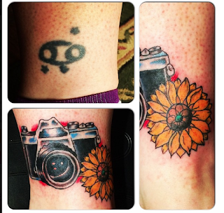 camer tattoo, camera, cover up