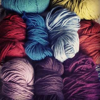 soft woolly yarn from my stash