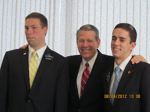 Elder Hallstrom of the 70 with Elders Biddulph and Tongish