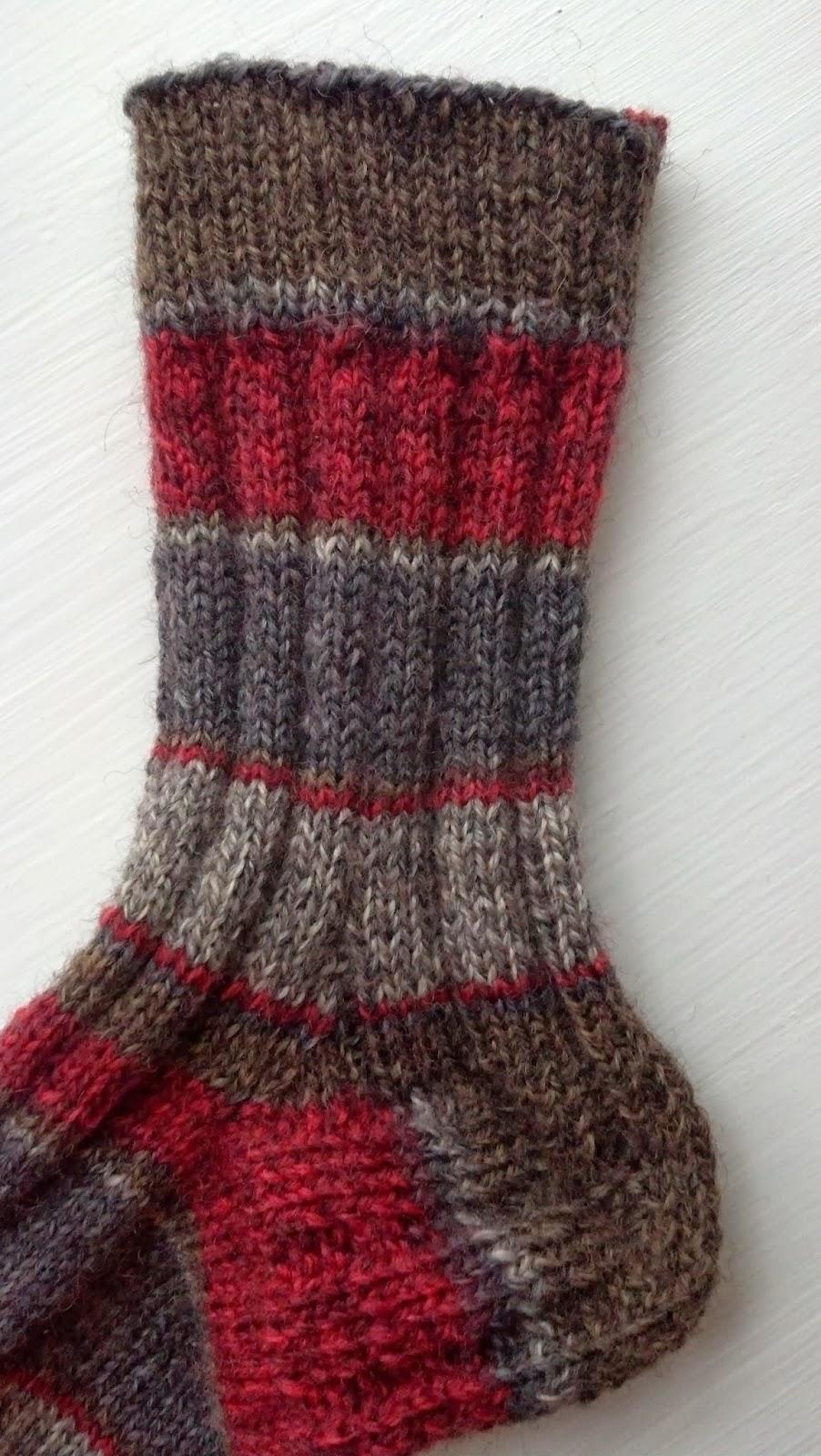 Pattern: Vintage Ribbed Toe Up Socks Knit A Bit Crochet Away