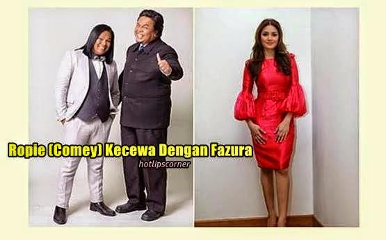 Comey, fazura, gosip, hiburan, info, kontroversi, MLM 2014, Ropie (Comey) Kecewa Dengan Fazura, sensasi, terkini,
