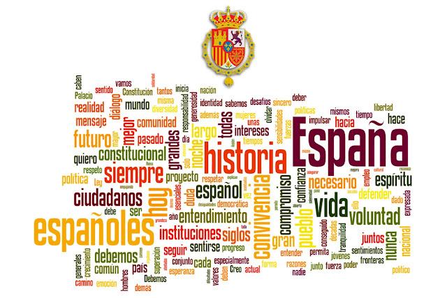 Nube de palabras del discurso de Felipe VI