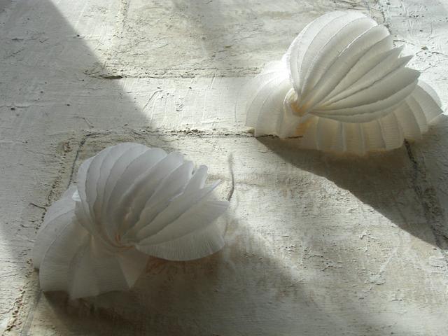 lampade di carta crespa a led, fatte a mano : forme marine