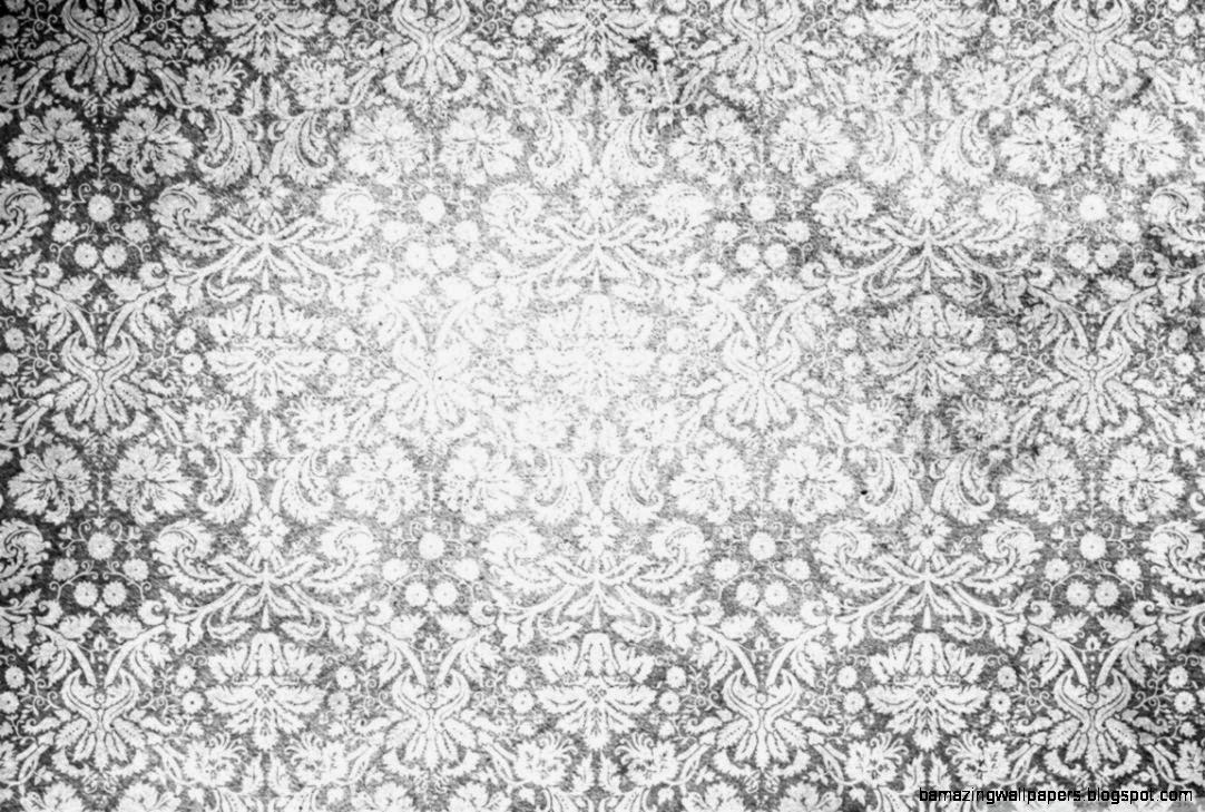Vintage Pattern Black And White HD desktop wallpaper  High