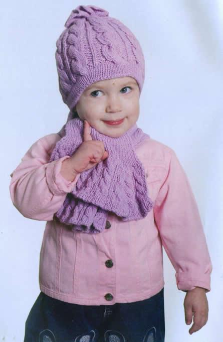 шапок для детей: Комплект для девочки