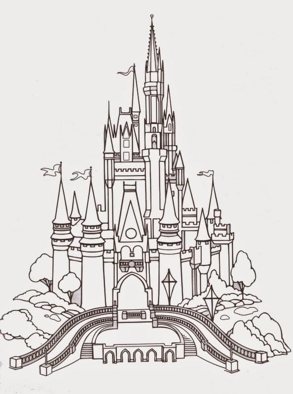 Disney Castle Coloring Pages - Disney Coloring Pages