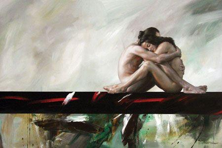 Sueños de amor | Fidel Garcia ~ pintor mexicano expresionista figurativo y abstracto