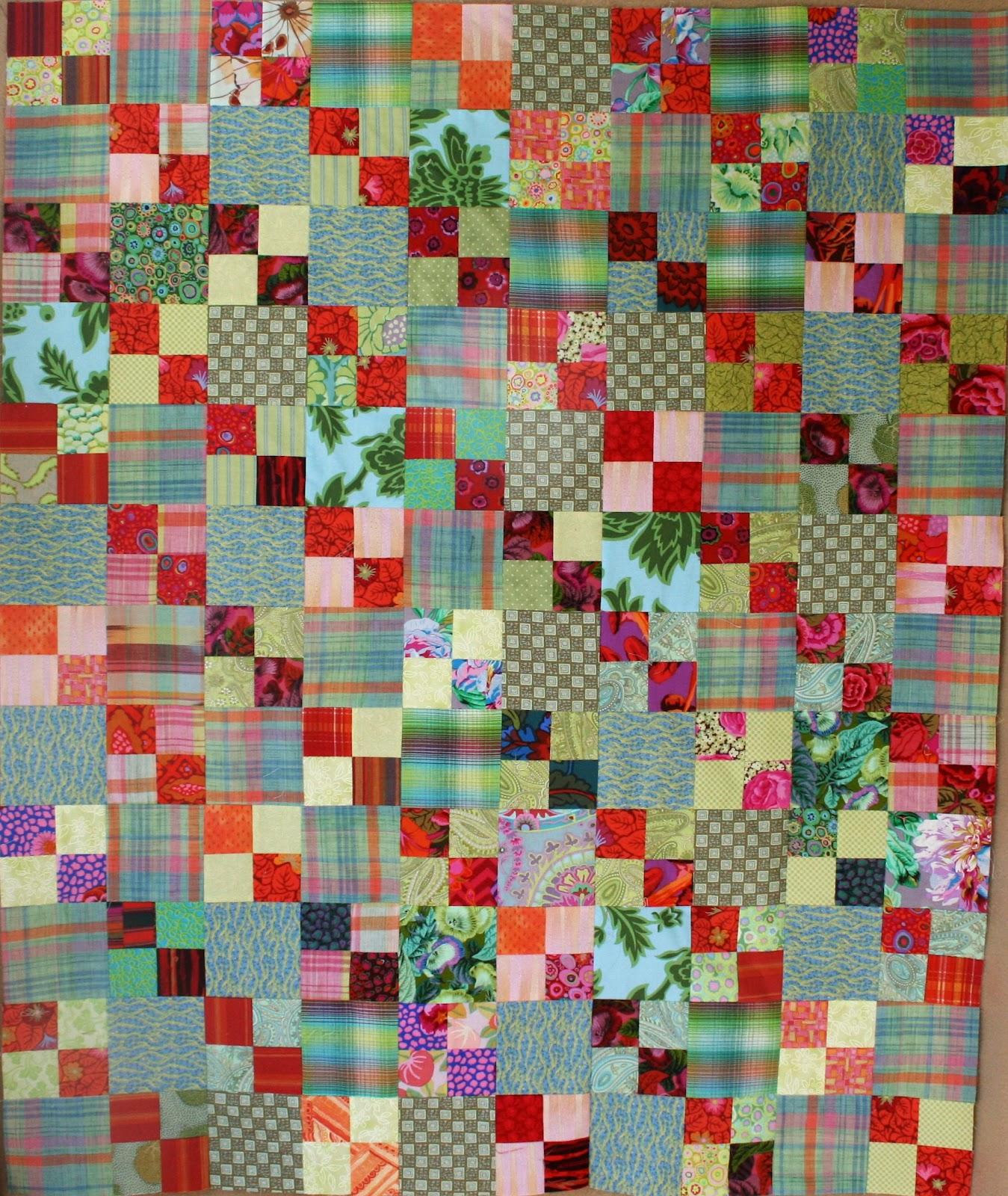 Basket full of scraps few ideas for scrap quilts for Scrap quilt