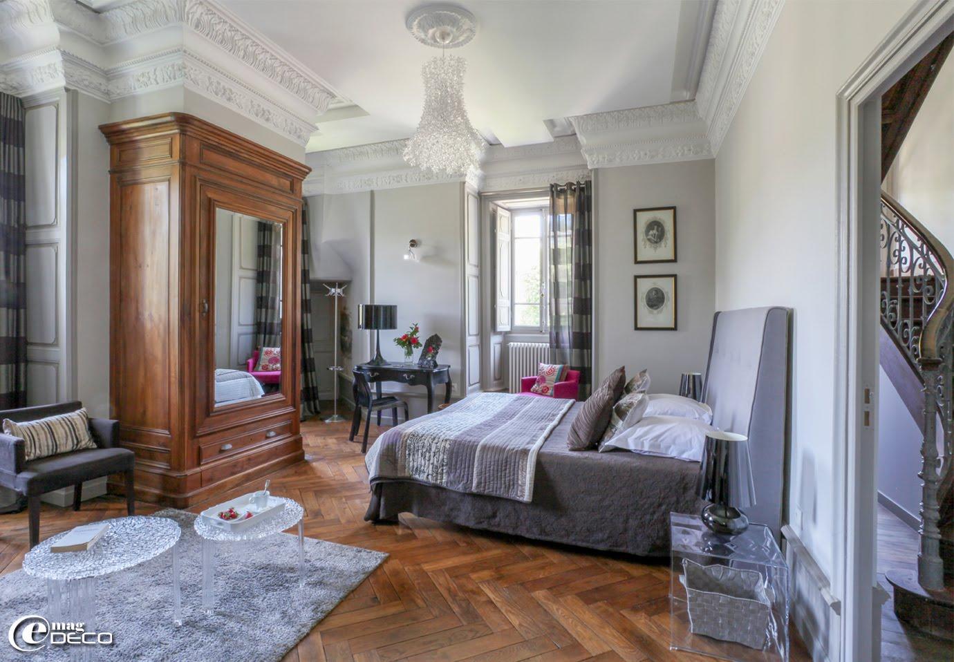 Une chambre d'hôtes du Château Clément à Vals-les-Bains en Ardèche