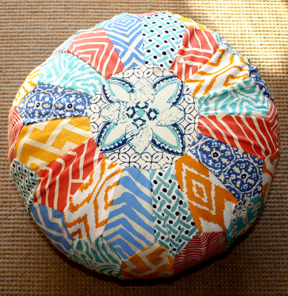 how to make a fabric pouf