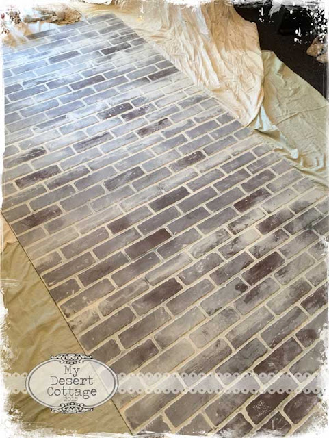 Fake Brick Hardboard Panels ~ My desert cottage faux brick wall tutorial