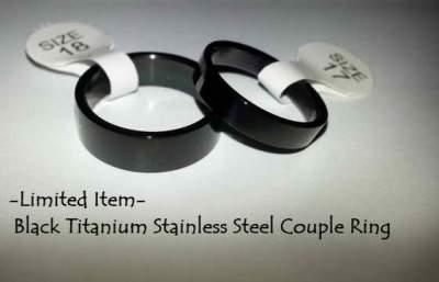 Cincin Titanium Hitam