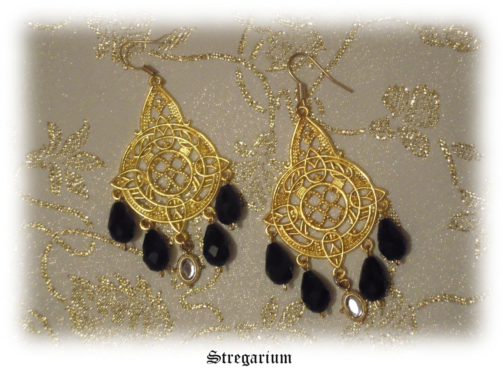orecchini bigiotteria dorati