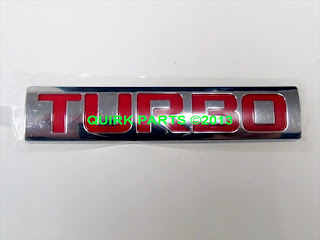 "2013-2014 Chevrolet Sonic Liftgate Nameplate ""Turbo"" GM GENUINE OEM NEW"