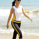 Shriya Saran Walk in Beach in Tight Dress Pics