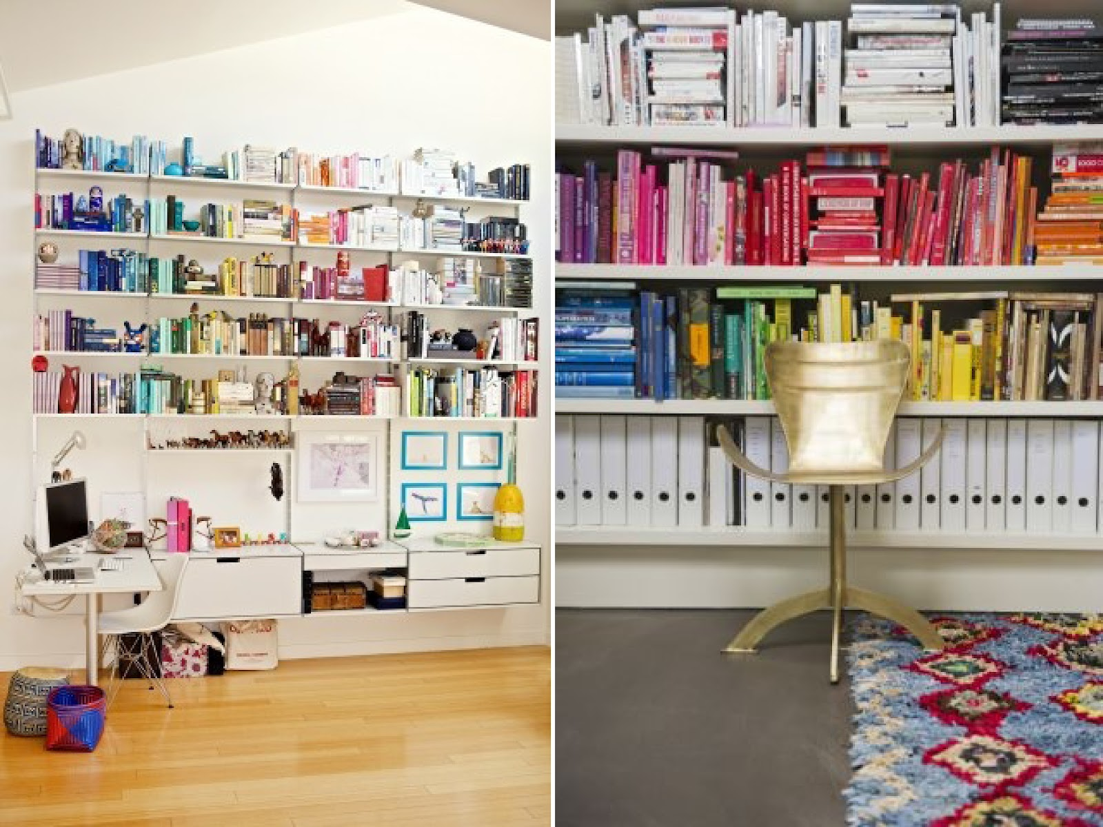 Co colour coordinated bookshelf - Pin It