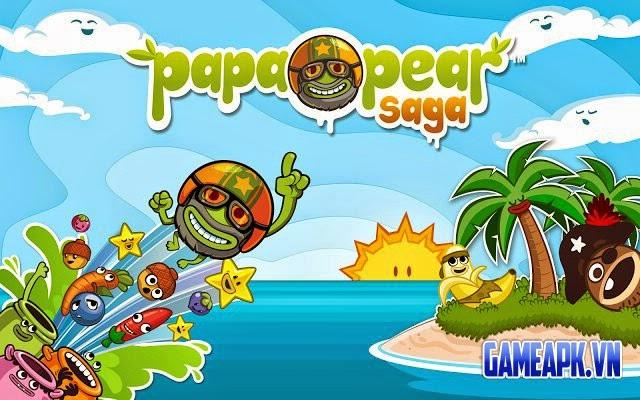 Papa Pear Saga v1.16.0 hack full mạng và tên lửa đẩy cho Android