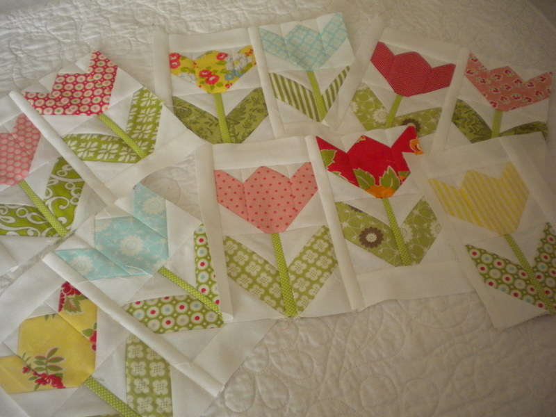 Tulips A Quilting Life - a quilt blog